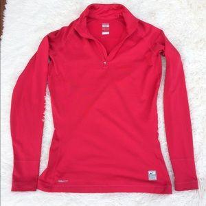 Nike Pro Fit Half zip Dark pink size M